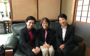 広島県看護協会 専務理事(左)との談笑風景